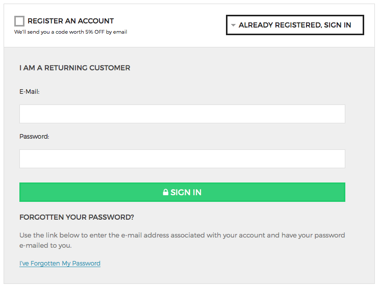 In order to redeem your points you must be signed into your account.